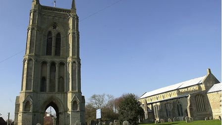 The church of St Mary the Virgin at West Walton, near Wisbech, with it's famous detached tower