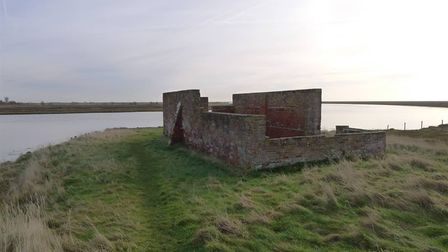 Brick structure in Boyton Marshes