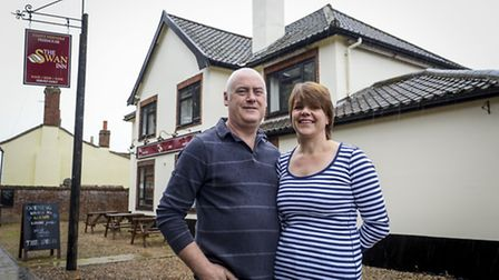 Sonia Harrison and Peter Freeman are opening The Swan in Mattishall on the 11th October. Picture: Ma