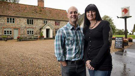 Ian and Denise Warren have taken over the Red Lion in Caston. Picture: Matthew Usher.