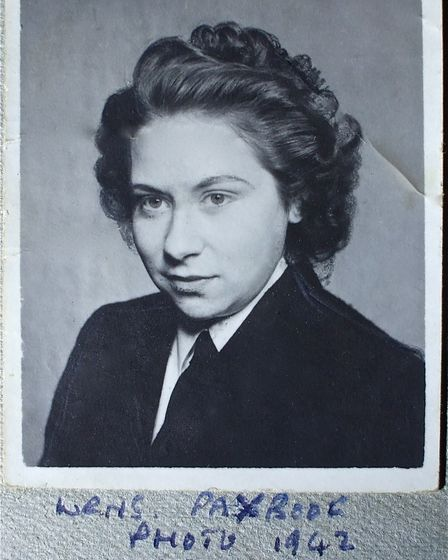 Violet Highton when she was 18-years-old in 1942 and signed up to the WRNS.