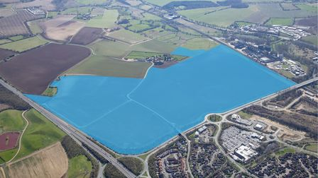 A planning application has been submitted to build business, warehouse and industrial space on the outskirts of Stowmarket