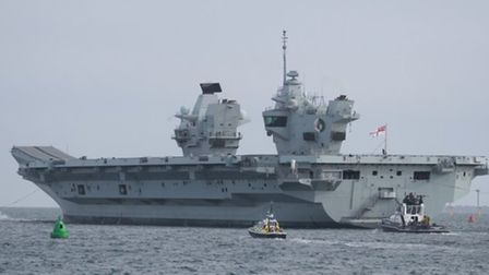 F35 jets from RAF Marham have decked aboard HMS Queen Elizabeth prior to taking part in Joint Warrio