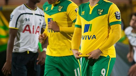 Gary Hooper was in action for Norwich City's development squad against Tottenham's U21s. Photo: Bill