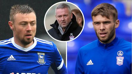 Ipswich Town boss Paul Lambert is lacking strikers, with Freddie Sears (l) and Aaron Drinan (r) options he could turn to