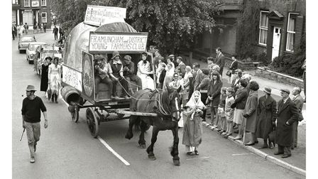 Framlingham and District Young Farmers Club float atFramlingham Gala in May 1967