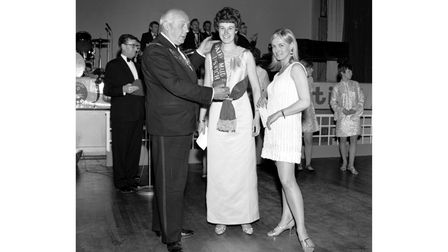 The Young Farmers Dairy Ball Maid was crowned at the Pier Pavilion, Felixstowe, in May 1968