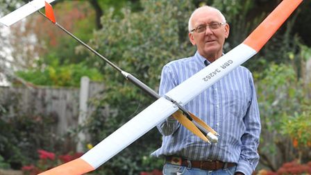 Michael Woodhouse flies his model aircraft at international competitions. He has been competing sinc