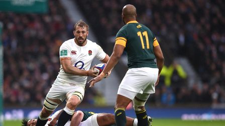 Chris Robshaw of England on the break during the Old Mutual Wealth Series match between England and