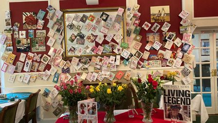 Just some of the cards received by Bessie Poulson at Garrett House