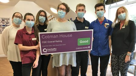 Cotman House in Felixstowe has been rated 'good' by the CQC