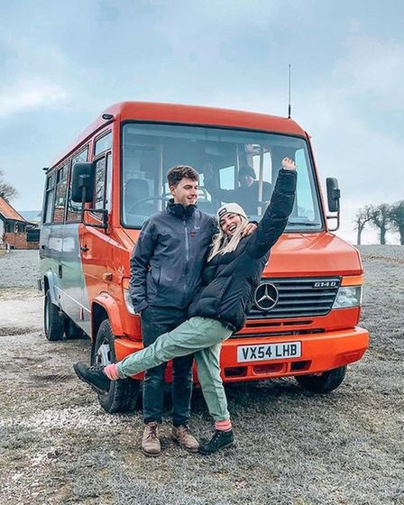 Toby Lane, 23, and girlfriend Abbie Clarke, have recently bought a2004 Mercedes Vario, named Vinnie, which they are...
