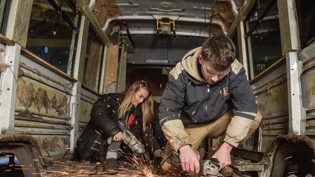 Toby Lane and Abbey Clarke are converting a van into their home and are planning to travel the UK a