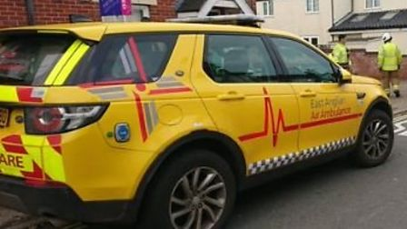 The East of England Ambulance Service, firefighters from Lowestoft South fire station and the rapid