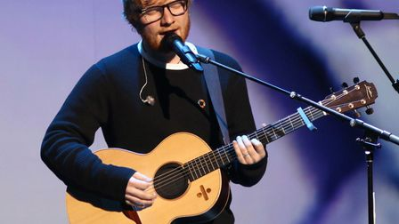 Ed Sheeran's likeness has been turned into a chocolate coin Picture: GREG ALLEN/PA IMAGES