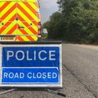 Police have now closed the road Picture; CHARLOTTE BOND