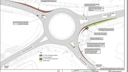 Council reports show the proposed works at Lancaster Way roundabout