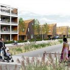 Waterbeach New Town East, artist impression. From application.