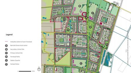 Waterbeach New Town East, site layout.