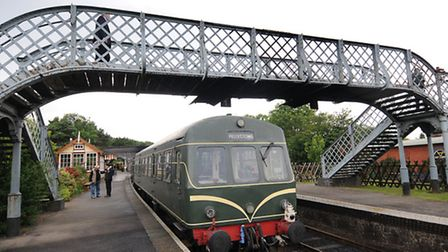 The North Norfolk Railway line's current bridge at Weybourne. Picture: ANTONY KELLY