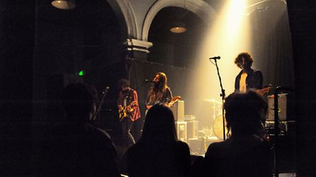 The Sound and Vision festival 2014. The band Kid Wave play at the Norwich Arts Centre. Picture: DENI