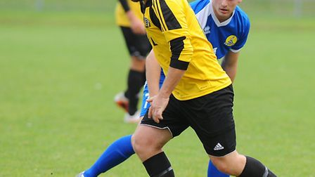 Action from Great Yarmouth Town's draw with March Town at the Wellesley. Picture: James Bass