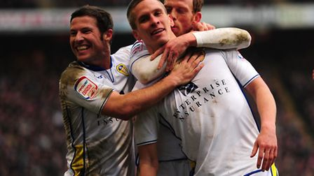 Former Norwich City striker Steve Morison could be in the Leeds line-up at Carrow Road tonight. Pict