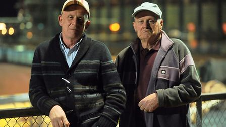 Unhappy Stars fans Steve and (R) Ray Granger. Picture: Ian Burt