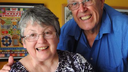 Carer John Cook and his wife Maureen who has dementia.Photo by Simon Finlay.
