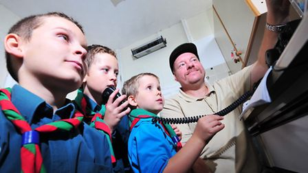 1st Belton Scouts celebrate their 40th anniversary.Youngsters trying to talk to other scouts across