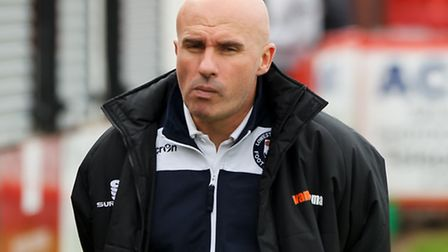 Lowestoft Town manager Ady Gallagher before the The FA Cup match at the Lamb Ground, TamworthPicture