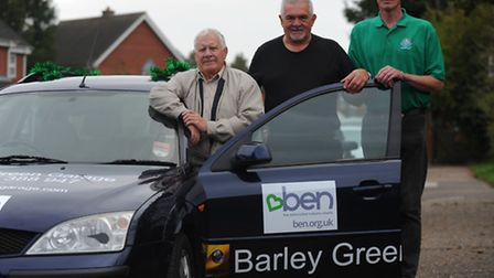 Roger Youngs (black t), Mick Sadler (beige jacket) and Julian Buck, (green top), all took park in th