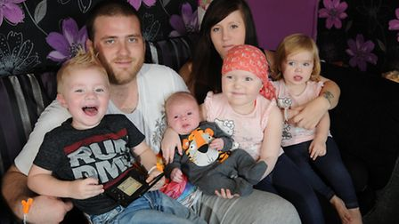 Carmel Lucas, 4, who has leukaemia and is now making and selling loom band bracelets to raise money