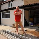 Andy Stonach recently moved his family into their new Methwold home only to be flooded last week.Pic