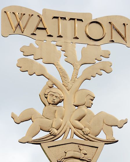 The Watton Town sign. Picture; Matthew Usher.
