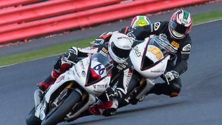 Freddy Pett ahead of his rivals at Silverstone. Picture: Barry Clay