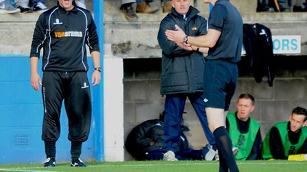 Lowestoft Town director of football Craig Fleming (left) and Lowestoft Town joint manager Ady Gallag