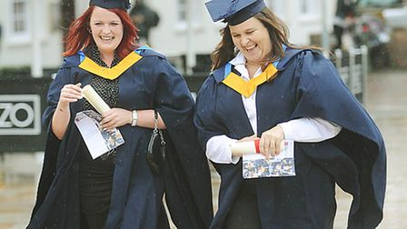 The College of West Anglia graduation parade, King's Lynn. Picture: Ian Burt