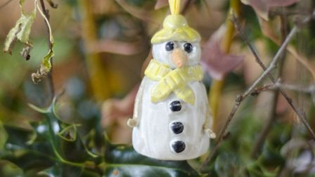 One of the ceramic decorations that was made at Amy's Art Barn in Welborne as part of the Breckland