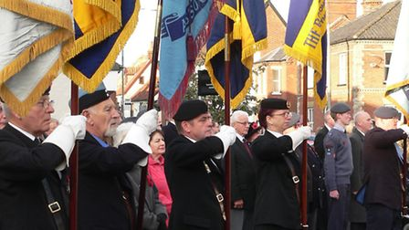 The Wymondham Remembrance Sunday parade 2014. Picture: Submitted