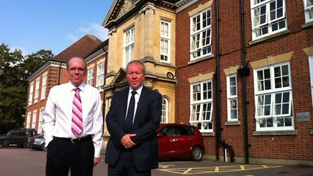 John Catton, left, chairman of the interim executive board at Sewell Park College, with Jeremy Rowe,