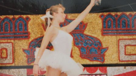 Sheringham mum-of-three Donna Young in her heyday as an international circus star. Photo: Karen Beth