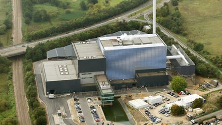 Great Blakenham incinerator, where Norfolk's waste is being sent to be burned. Picture: Mike Page.