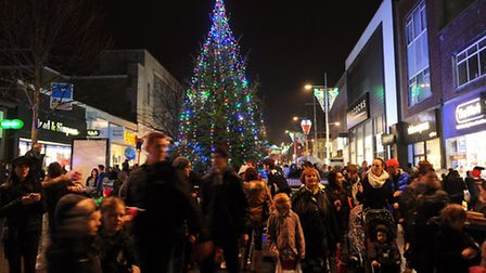 Lowestoft Christmas Lights Switch on in the town centre.November 2014Picture: James Bass