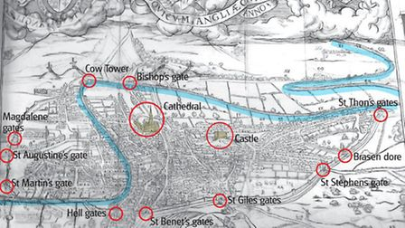 William Cunningham's 1558 map of Norwich is the first printed map of any English city.