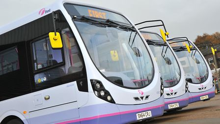 First Eastern Counties brand new Micro-hybrid Streetlite buses.Picture by SIMON FINLAY.