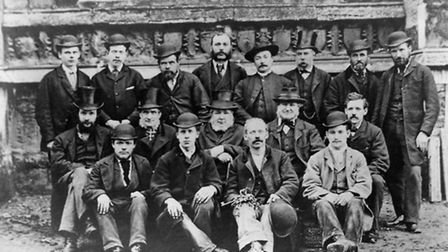 The St Peter Mancroft bell-ringers in 1883.