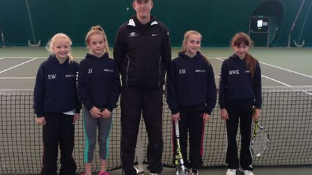 The Norfolk under-12 girls team which took part in the 12 Counties tournamnt in Corby (from left) El