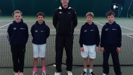 The Norfolk under-12 boys team which took part in the 12 Counties tournamnt in Corby (from left) Fre