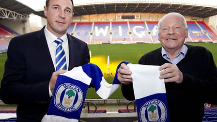 Malky Mackay and Dave Whelan. Picture: PA/Barrington Coombs